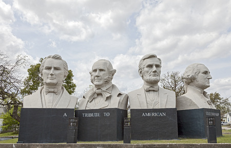 busts: American Statesmanship Park in Houston, Texas