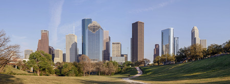 houston: A Panorama View of Downtown Houston, Texas