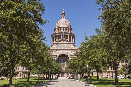 시내 오스틴, 텍사스 텍사스 주 의사당 건물 스톡 콘텐츠