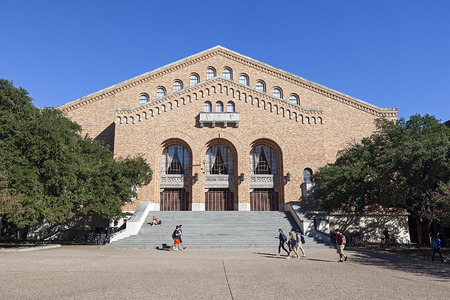 Gregory Gymnasium Building at University of Texas Editorial