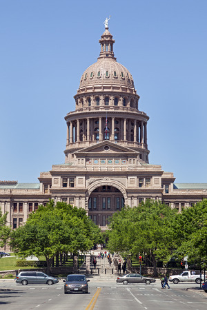 The Texas State Capitol Building in downtown Austin