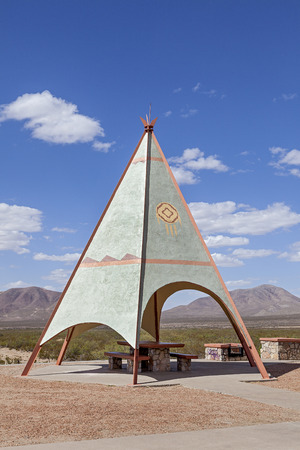 An Indian Teepee set up at Highway Picnic Area