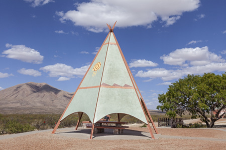 teepee: An Indian Teepee set up at Highway Picnic Area