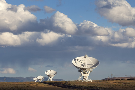 Very Large Array Satellite Dishes in New Mexico, USA photo