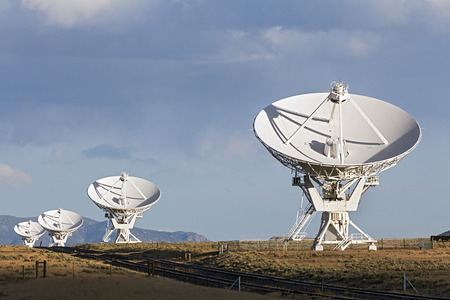 Very Large Array Satellite Dishes in New Mexico, USA Stock Photo