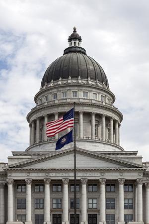 ソルトレイクシティ、ユタ州のユタの州議会議事堂 報道画像