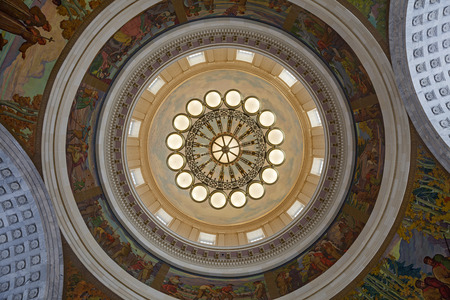 Interieur van de Utah State Capitol Rotunda Plafond