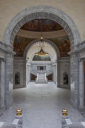 Interior of the Utah State Capitol building on Capitol Hill in Salt Lake City, Utah  Editorial