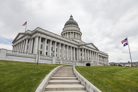 ソルトレイクシティ、ユタ州のユタの州議会議事堂 写真素材