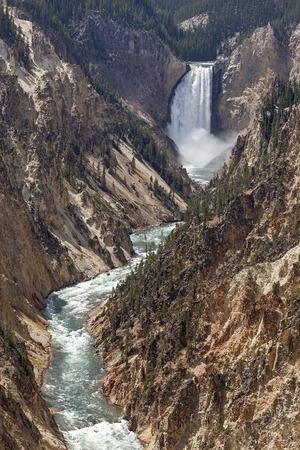 Lower Falls at Yellowstone National Park, Wyoming
