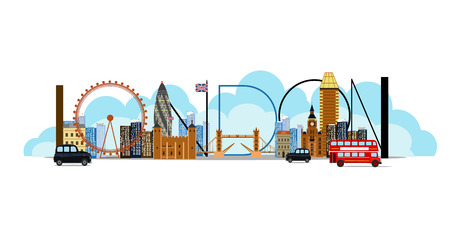 london city: London city. Illustration