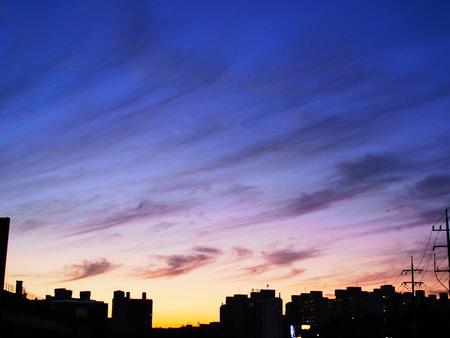 dusk of city