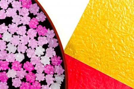lacquer ware: Japanese candy Stock Photo