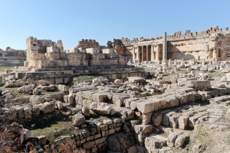 heliopolis: The remainings of the Temple of Jupiter in Baalbek ,Lebanon
