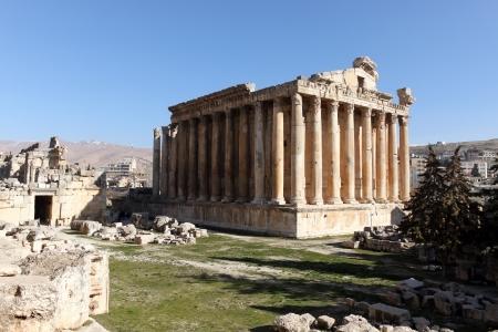 Bacchus-Tempel in Baalbek, Libanon Standard-Bild - 24870096