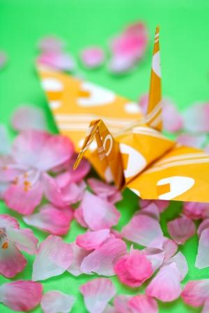 日本の伝統的な紙鶴