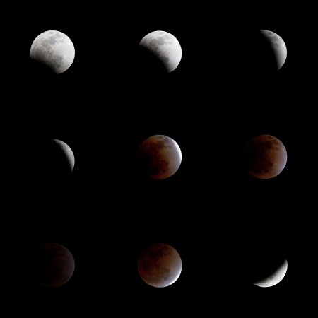 Total eclipse of the moon photo