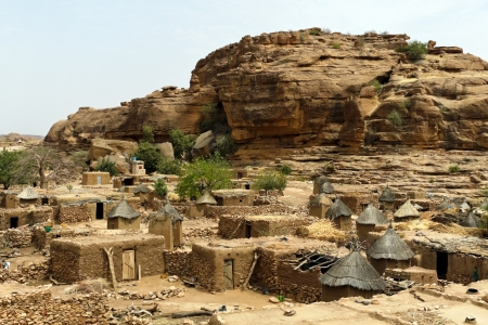 Desert and cliff in a Dogon Village photo