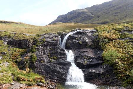 glencoe: Waterfalls, Glencoe, Scotland Stock Photo