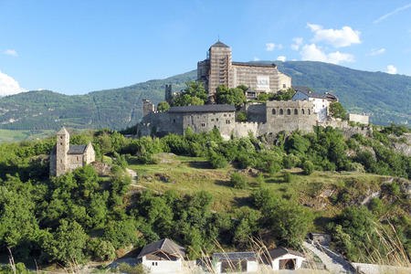 valais: Sion, the canton of Valais in Switzerland