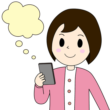smart phone woman: The woman who watches a smart phone