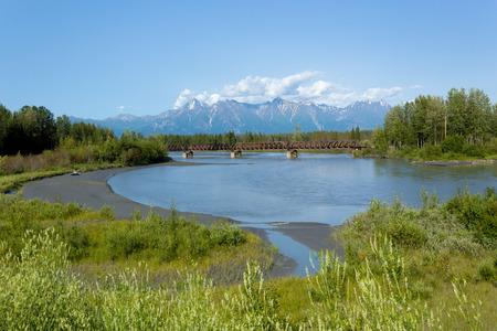 Knik River in the U S  state of Alaska Banco de Imagens
