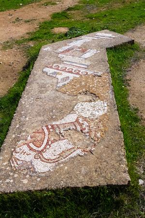 Römische Ruinen in der Stadt Jerash Standard-Bild - 34872040