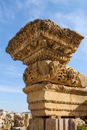 Ornamental Schnitzen von Jerash, Jordanien Standard-Bild - 34921886