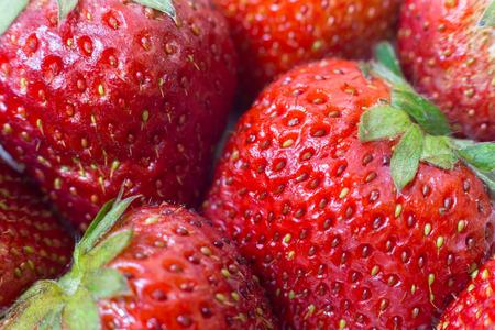 Rote Erdbeeren auf weißem Hintergrund. Standard-Bild - 41855347