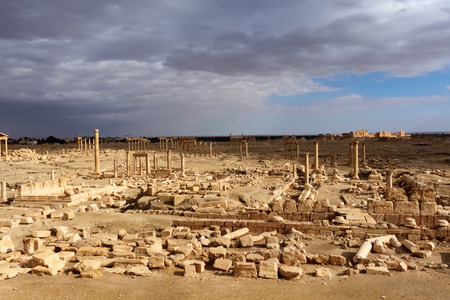 Overview of the Palmyra historic site, Syria