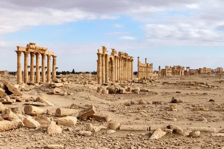 Palmyra historische Stätte, Syrien Standard-Bild - 44708492