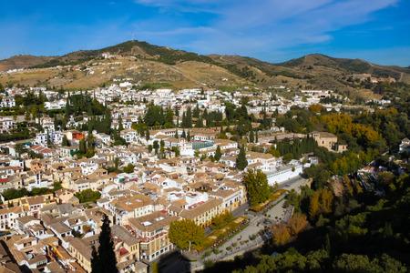 granada: Albaicin landscape, Granada, Spain