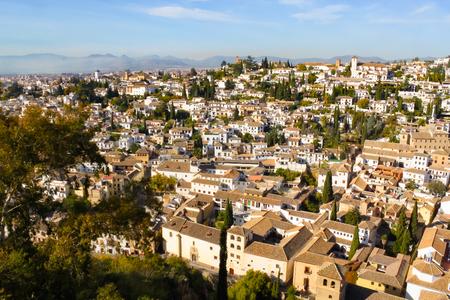 Albaicin Landschaft, Granada, Spanien Standard-Bild - 44847010