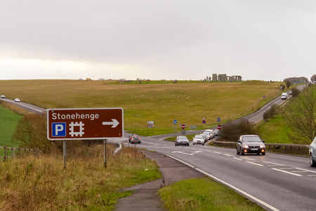 social history: In and around Stonehenge, England Stock Photo