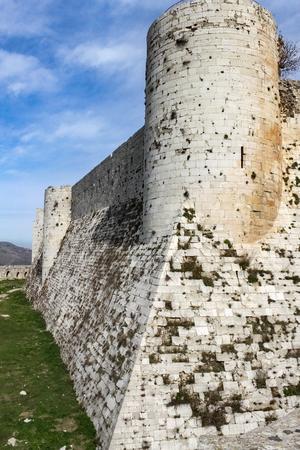 Innere Festung Krak des Chevaliers Standard-Bild - 56536336
