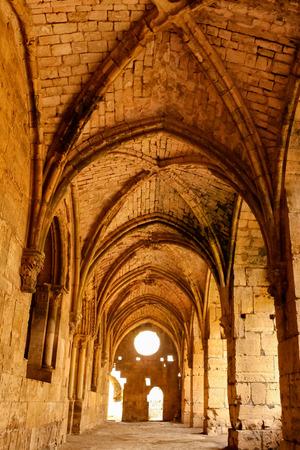 Gotische Fassade, Krak des Chevaliers Standard-Bild - 56536340
