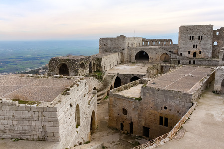 feature wall: Inner court of Krak des Chevaliers