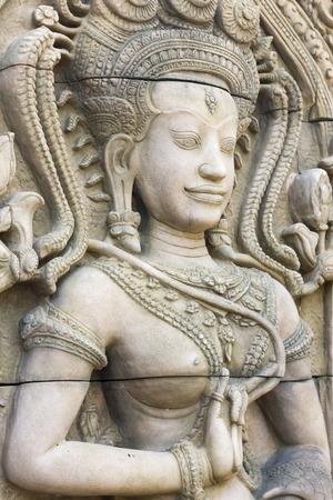 apsara: Apsara carvings statue Stock Photo