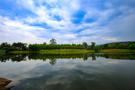 pang: Thailand lake reflection Stock Photo