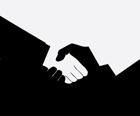 equal opportunity: Handshake, Business, Meeting, Black And White, Businessman