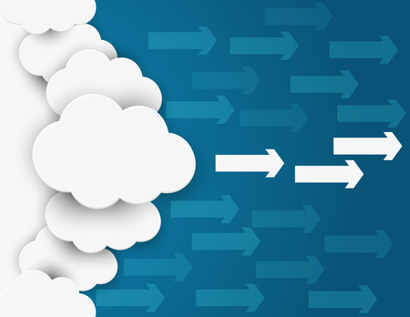 Cloud network . Concept business illustration. Vector flat