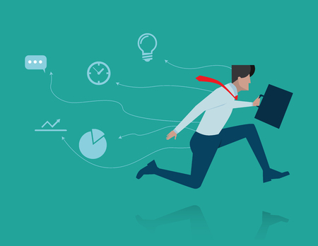 video call: Fast business . Concept business illustration. Vector flat