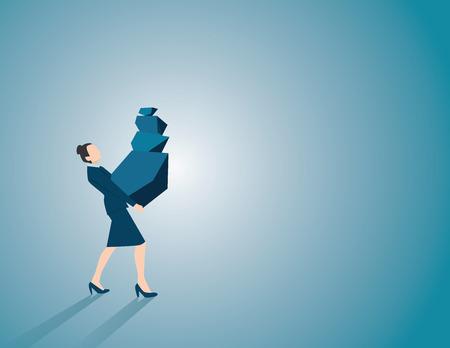 overload: Find your inner balance. Concept business illustration. Vector flat Illustration