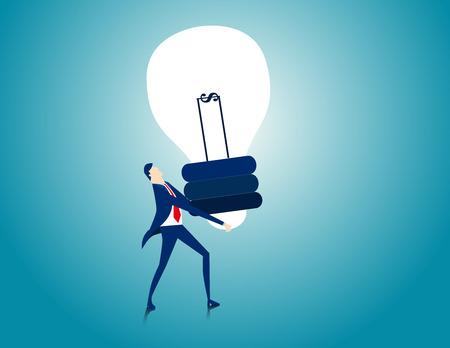 Mantenga la lámpara. ilustración concepto de negocio. vector plana