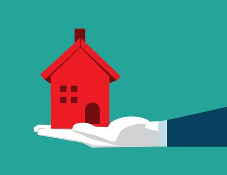 Housing image. Concept business illustration. Vector flat Illustration