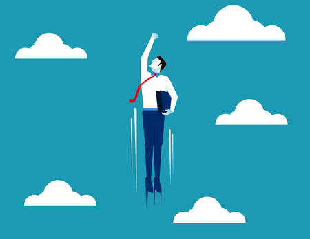 Business superman. Concept business illustration. Vector flat