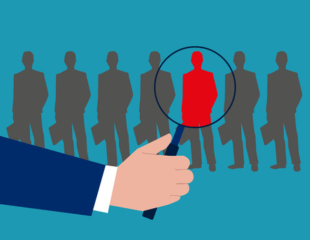 choosing: Recruitment Choosing the right people. Concept business illustration. Vector flat Illustration