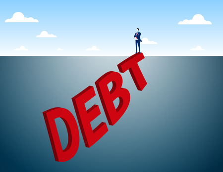 concealed: Hidden Debt Concept . Concept business illustration. Vector flat