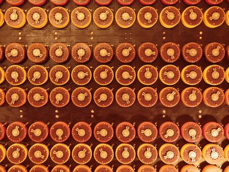 Bombe decoding machine at WWII Code Breaking Museum, Bletchley Park,  Bletchley, Milton Keynes, England