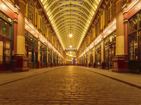 Leadenhall Market, Gracechurch Street, City of London, England, United Kingdom Stockfoto